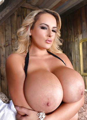 Blond huge tits