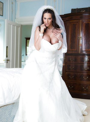 Big tits boobs wedding dress