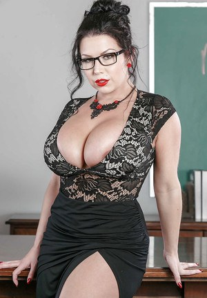 Teacher with huge tits